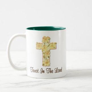 刺繍の十字 ツートーンマグカップ