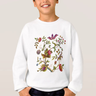 刺繍パターン伝統的な生命の樹 スウェットシャツ