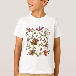 刺繍パターン伝統的な生命の樹 Tシャツ