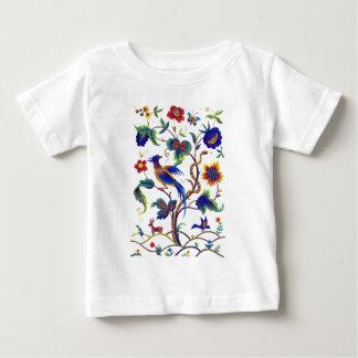 刺繍BeautfulのJacobean極楽鳥 ベビーTシャツ