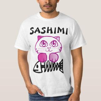 刺身CATのおもしろTシャツ Tシャツ