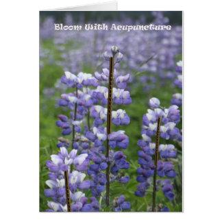 刺鍼術IIIを用いる開花 カード