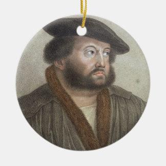 刻まれるハンズHolbein (1497/8-1543)のポートレート セラミックオーナメント