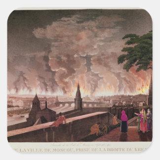 刻まれるモスクワの火、1812年9月。 スクエアシール