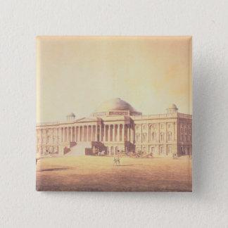 刻まれる米国の国会議事堂 5.1CM 正方形バッジ