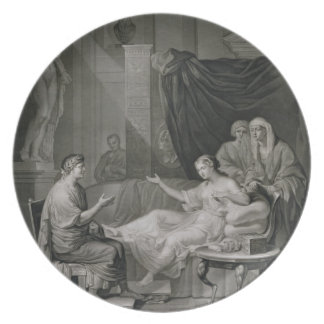 刻まれるAugustusおよびCleopatraのインタビュー プレート