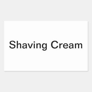 剃るクリームのラベル 長方形シール