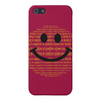 前向きで考えるなスマイリー iPhone 5 CASE