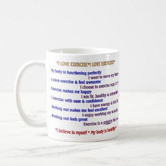 前向きなエクササイズの断言 コーヒーマグカップ