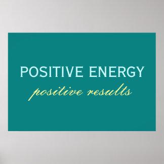 前向きなエネルギープラスの結果ポスター プリント