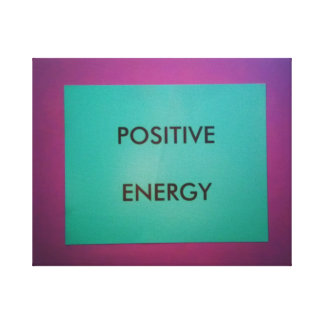 前向きなエネルギー キャンバスプリント