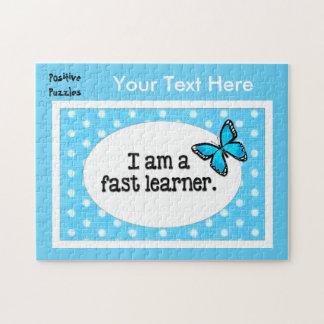 前向きなパズル-私は速い学習者の蝶です ジグソーパズル