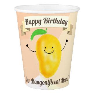 前向きなマンゴのしゃれ-誕生日のMangonificentのお母さん 紙コップ