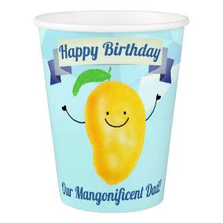 前向きなマンゴのしゃれ-誕生日のMangonificentのパパ 紙コップ