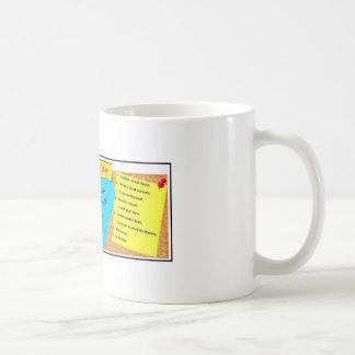 前向きなメッセージのマグ ベーシックホワイトマグカップ