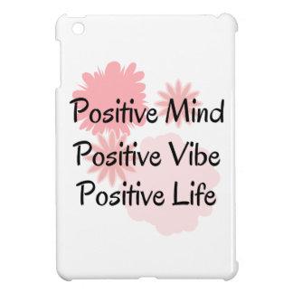 前向きな心、前向きなVibe、前向きな生命引用文 iPad Miniカバー