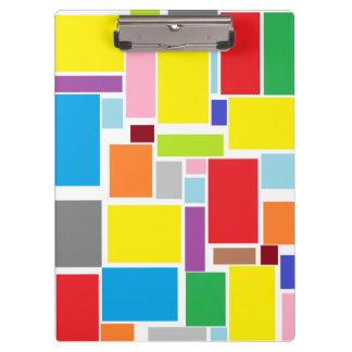 前向きな感情のカラフルのブロックのクリップボード クリップボード