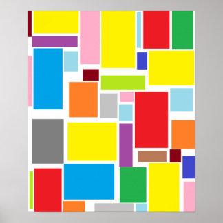 前向きな感情のカラフルのブロックA3ポスター ポスター