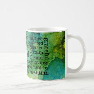 前向きな断言私は声明です コーヒーマグカップ