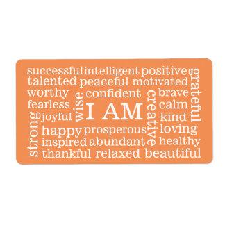 前向きな断言私は成功のための単語です ラベル