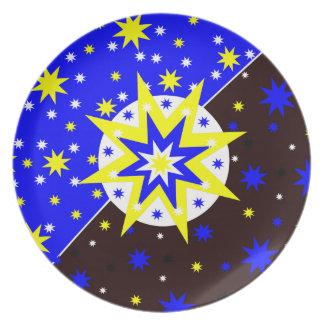前向きな星 プレート