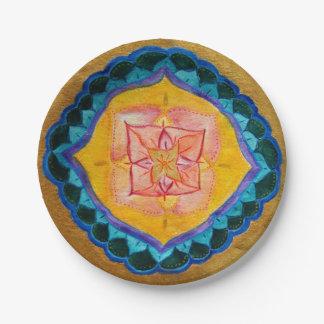 前向きな曼荼羅のカスタムな紙皿7 inに ペーパープレート