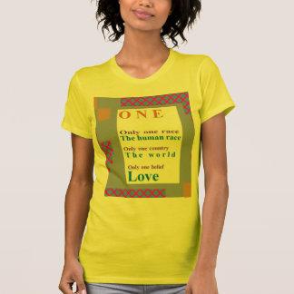 前向きな確信:  1人、1の競争、愛 Tシャツ