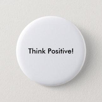 「前向きな」ボタンを考えて下さい 5.7CM 丸型バッジ