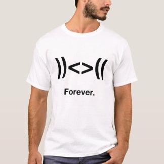 前後のウンチ。 永久に Tシャツ