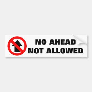 前方に許可されなかった警告標識無し バンパーステッカー