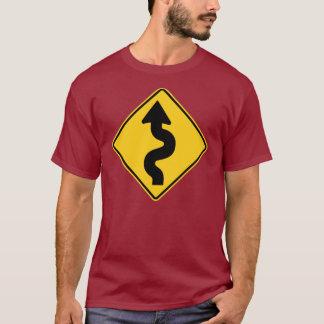 前方のカーブ Tシャツ