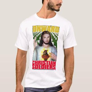 前方のキリスト教の兵士 Tシャツ