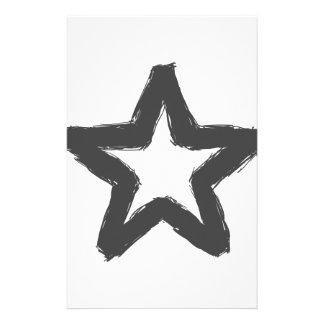 前方の注意の星! 便箋