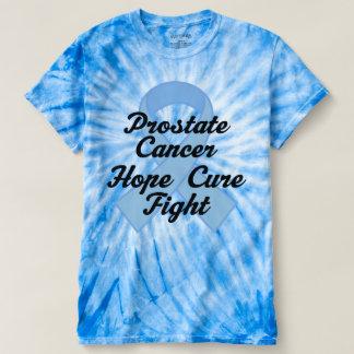 前立腺癌の希望の戦いの治療のリボンのTシャツ Tシャツ