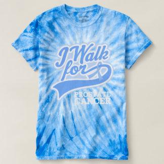 前立腺癌の歩行のリボンのTシャツ Tシャツ