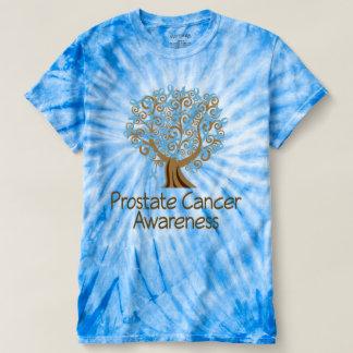 前立腺癌の認識度の木のティーのTシャツ Tシャツ