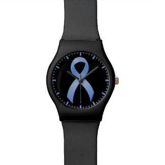 前立腺癌-淡いブルーのリボン 腕時計