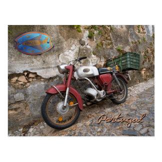 前衛のオートバイ ポストカード