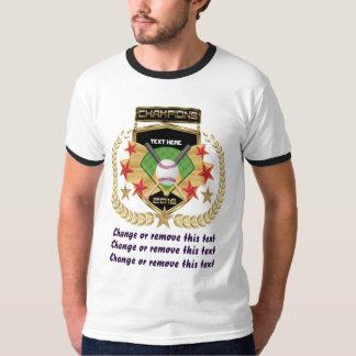 前部だけソフトボールのチャンピオン Tシャツ