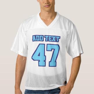 前部淡いブルーの海軍白いメンズフットボールジャージー メンズフットボールジャージー