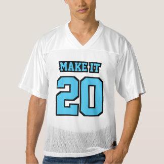 前部淡いブルーの白黒メンズフットボールジャージー メンズフットボールジャージー