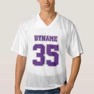 前部紫色の銀製の灰色の白人のフットボールジャージー メンズフットボールジャージー