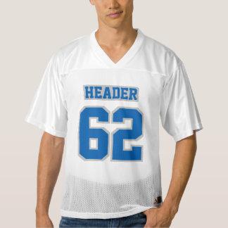 前部青い銀製の灰色白メンズフットボールジャージー メンズフットボールジャージー