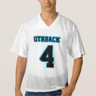 前部黒い淡いブルーの白いメンズフットボールジャージー メンズフットボールジャージー