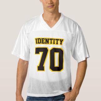 前部黒い金黄色く白いメンズはジャージーを遊ばします メンズフットボールジャージー