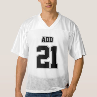前部黒い銀製の灰色白メンズフットボールジャージー
