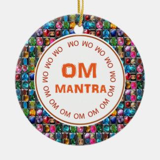 前部OMの信念の背部OMの記号の紋章 セラミックオーナメント