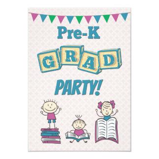 前K卒業パーティーのための招待状 12.7 X 17.8 インビテーションカード