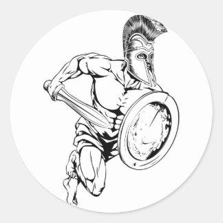 剣および盾のマスコット ラウンドシール