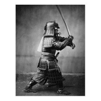 剣および短剣を持つヴィンテージの武士 ポストカード